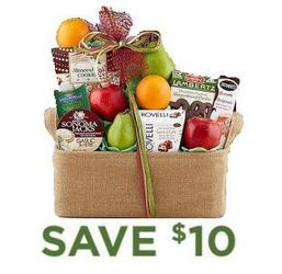 Fruit and Favorites<br>Gift Basket<b> from Flowers All Over.com
