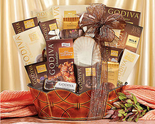 Godiva Wishes<br>Gift Basket<b> from Flowers All Over.com