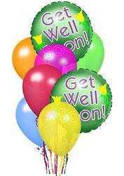 Get Well Balloons<B> from Flowers All Over.com