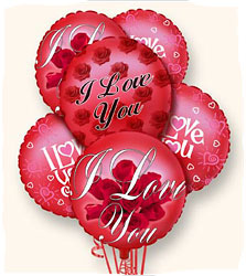 I Love You Balloon Bouquet<b> from Flowers All Over.com