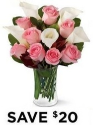 Pink Roses & Calla Lilies<br><b>Free Delivery from Flowers All Over.com
