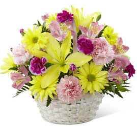 Basket Of Cheer Bouquet<br><b>FREE DELIVERY from Flowers All Over.com