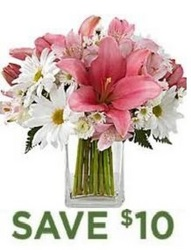 Pretty and Pink Bouquet<br> with Free Vase<b> from Flowers All Over.com