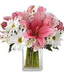 Pretty and Pink Bouquet<BR><B>FREE NEXT DAY DELIVERY from Flowers All Over.com