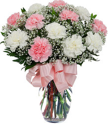 Pink & White Greetings<b> from Flowers All Over.com