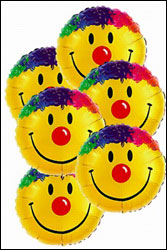 Smiley Face Balloon Bouquet<b> from Flowers All Over.com