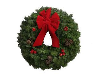 Fresh Decorated Balsam Wreath from Flowers All Over.com