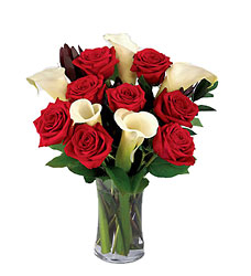 Red Roses & Calla Lilies<br><b>Free Delivery from Flowers All Over.com