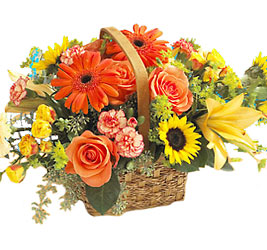 Homespun Basket<b> from Flowers All Over.com