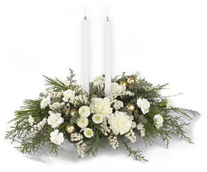Wintergarden Candle Centerpiece<b> from Flowers All Over.com