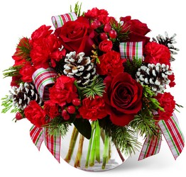 Holiday Bubble Bowl Arrangement<b> from Flowers All Over.com
