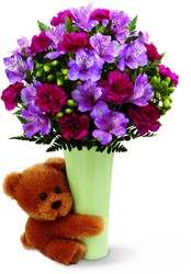 Baby Boy Teddy Bear Bouquet<br><b>FREE DELIVERY from Flowers All Over.com