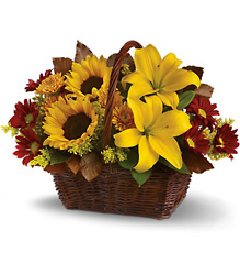 Golden Days Basket<b> from Flowers All Over.com