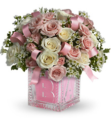 Baby's Building Block - Girl<b> from Flowers All Over.com