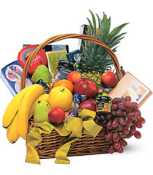 Gourmet Food Basket With Fruit<b> from Flowers All Over.com