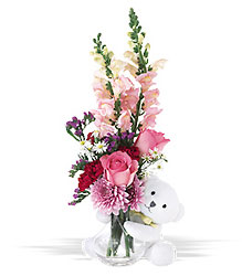 Bear Hug Bouquet from Flowers All Over.com